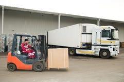 Free Forklift Loader At Warehouse Stock Photos - 16878773