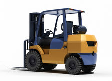 Forklift loader close-up Royalty Free Stock Image