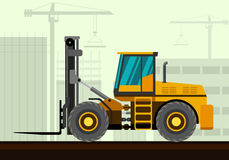 Forklift loader industrial crane Royalty Free Stock Photo