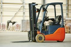 Free Forklift Loader Stacker Truck At Warehouse Stock Photos - 48536313