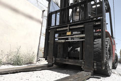Forklift loader truck Royalty Free Stock Photo
