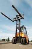 Forklift loader for warehouse works Stock Photo
