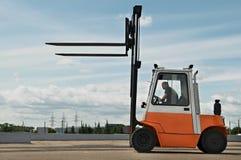 Forklift loader for warehouse works Royalty Free Stock Images