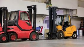 Forklift loaders Royalty Free Stock Image
