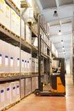 Forklift loading Stock Photo