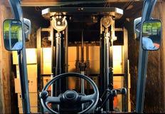 Forklift loading truck stock image