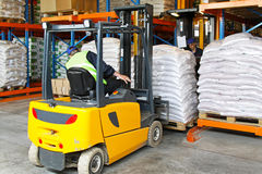 Forklift logistic Stock Images