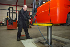 Forklift Maintenance Stock Photos