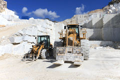Forklift in a marble quarry of Carrara, Italy Stock Images
