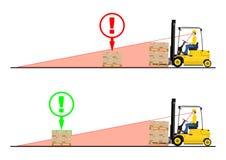 Forklift niebezpieczeństwa Obrazy Royalty Free