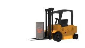 Forklift niesie metal baryłkę royalty ilustracja