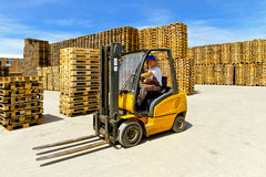 Forklift operator Stock Photography