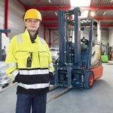 Forklift operator Stock Image