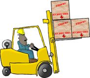 Forklift operator Stock Photos