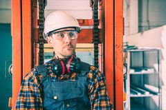 Forklift Operator Portrait royalty free stock photo