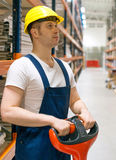 Forklift operator. Royalty Free Stock Images