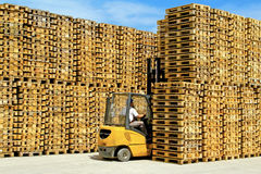 Forklift Pallets Royalty Free Stock Image
