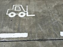 Forklift pas ruchu zdjęcia royalty free