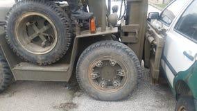 Forklift plenerowy działanie zdjęcia royalty free