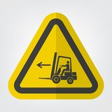 Forklift Point Left Symbol Sign Isolate On White Background,Vector Illustration EPS.10 royalty free illustration