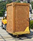 Forklift pracuje Fotografia Royalty Free