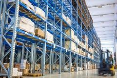 forklift przemysłu storehouse Zdjęcie Royalty Free