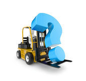 Forklift with question Stock Image