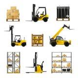Forklift Realistic Set Stock Photo
