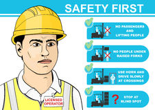 Forklift safety. Royalty Free Stock Photography