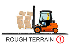Forklift safety. Vector Stock Photo