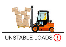 Forklift safety. Vector Royalty Free Stock Photos