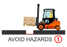 Forklift safety. Vector Stock Photography