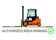 Forklift safety. Vector Stock Photos