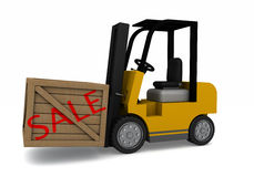 Forklift Sale crate Stock Image