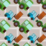 Forklift seamless background design Royalty Free Stock Images