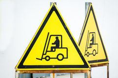 Forklift sign Royalty Free Stock Photography