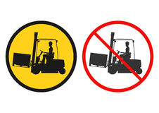 Forklift sign Stock Photography