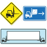 Forklift sign Stock Image