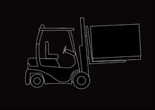 Forklift silhouette Stock Photo