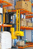Forklift stacker Stock Images