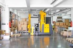Forklift stacker Stock Photo