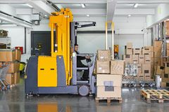 Forklift stacker Royalty Free Stock Photo