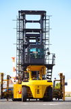 Forklift is stacking container Stock Photo
