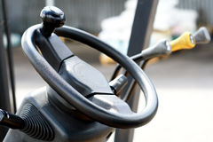 Forklift steering wheel Royalty Free Stock Photo