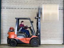 Forklift transportation Stock Photography