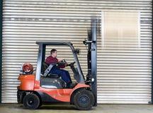 Forklift transportation Stock Photography