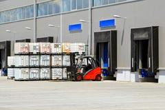 Forklift transportation Stock Photos