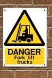 forklift truck σημαδιών Στοκ φωτογραφία με δικαίωμα ελεύθερης χρήσης