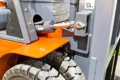 forklift truck 柴油抵消卡车 仓库设备 库存照片