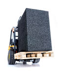 Forklift truck with black box Stock Photos